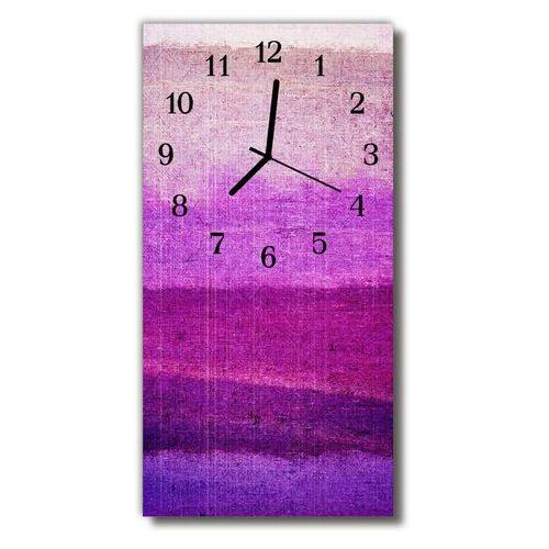 Zegar Szklany Pionowy Farba malowany purpurowy