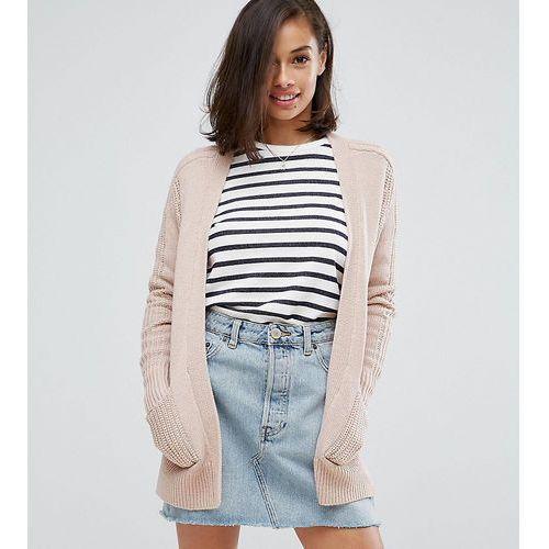 ASOS PETITE Ultimate Chunky Knit Cardigan - Pink