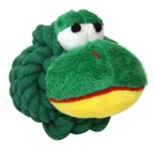 Zielona żabka - okrągła zabawka dla psa w każdym wieku marki Happypet