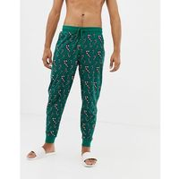 Asos design christmas lounge joggers in candy cane print - green