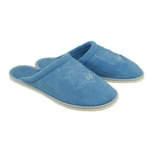 METEOR 042 FROTTE niebieski, kapcie damskie łazienkowe - Niebieski, kolor niebieski