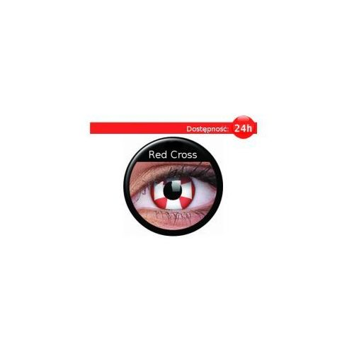 Crazy Wild Eyes - Red Cross - 2 sztuki z kategorii Soczewki kontaktowe