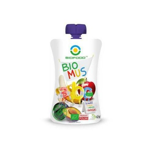 90g mus ze śliwek bananów i jabłek bio marki Bio food