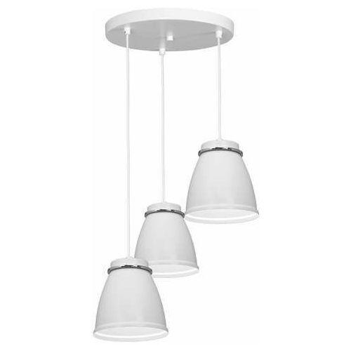Luminex lerdo 1938 lampa wisząca zwis 3x60w e27 biała/chrom (5907565919387)