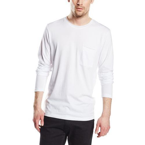 Selected Homme Men's Florence Pima Long Sleeve T-Shirt - Bright White - L