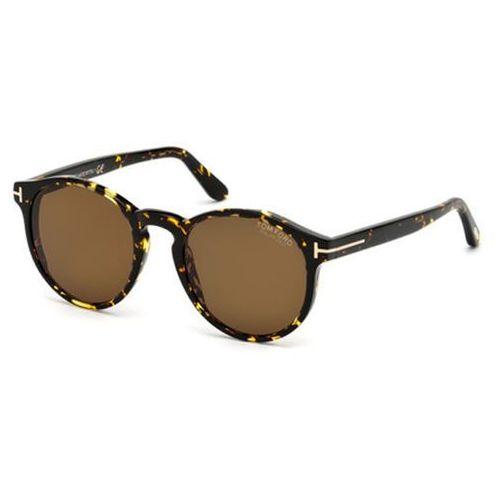 Okulary Słoneczne Tom Ford FT0591 Polarized 52M, kolor żółty