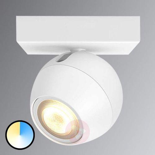 Spot LED Philips Hue Buckram, jednopunktowy, biały