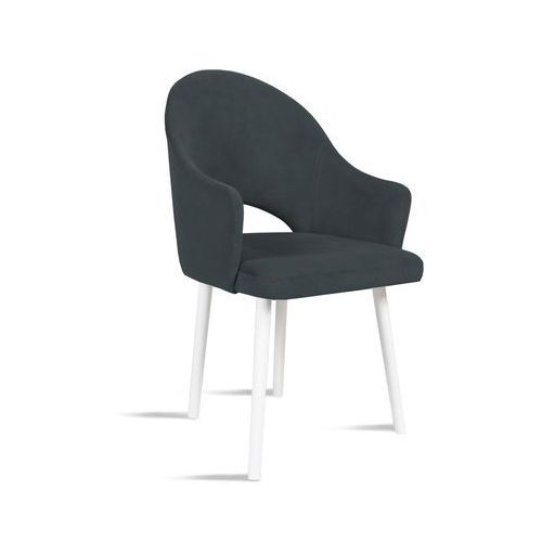 Krzesło BARI ciemny szary/ noga biała/ TR15, 28 dni roboczych