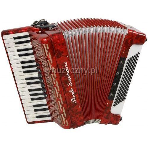 Paolo Soprani Studio 96 37/3/7 96/5/4 akordeon (czerwony)