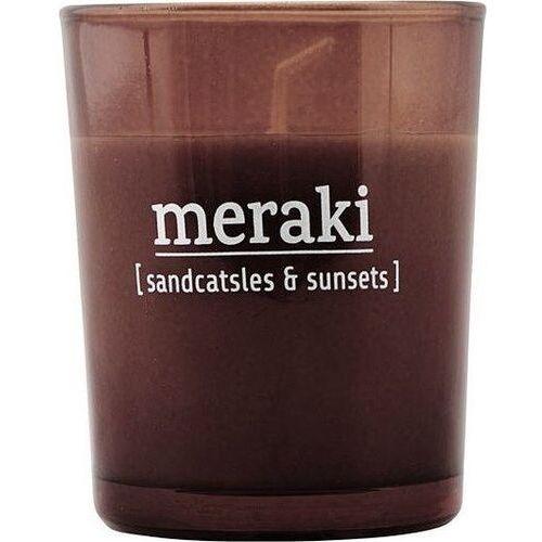 Świeca zapachowa Meraki w ciemnym szkle mała Sandcastles & Sunsets (5707644476110)