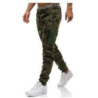 Spodnie męskie dresowe baggy moro-multikolor Denley 3769G, dresowe