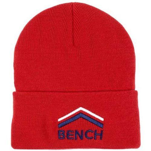 czapka z daszkiem BENCH - Turn Up Beanie With Graphic Red (RD012) rozmiar: OS, kolor czerwony