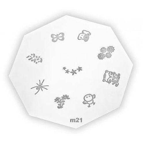 metal plate for nail art płytka metalowa do zdobień - 1 marki Neonail