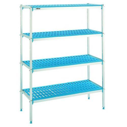 Regał aluminiowo-polietylenowy, 4-półkowy, 2626x400x1750 mm | , zestaw-109 marki Edenox