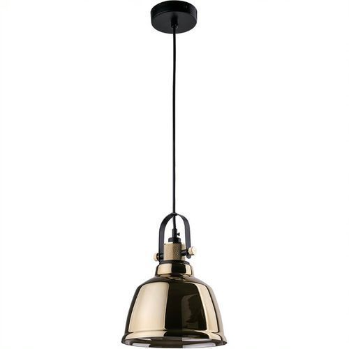 Lampa wisząca Nowodvorski Amalfi Gold 9153 zwis 1x60W E27 czarna/mosiądz (5903139915397)