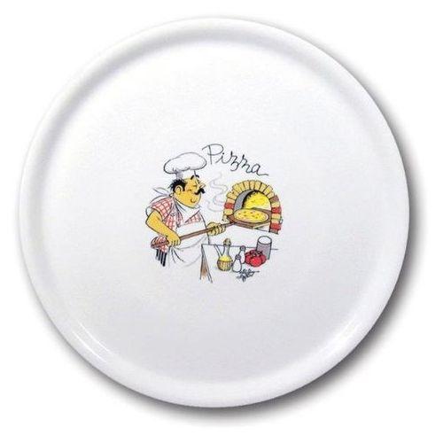 Fine dine Talerz do pizzy porcelanowy dekorowany śr. 33 cm speciale