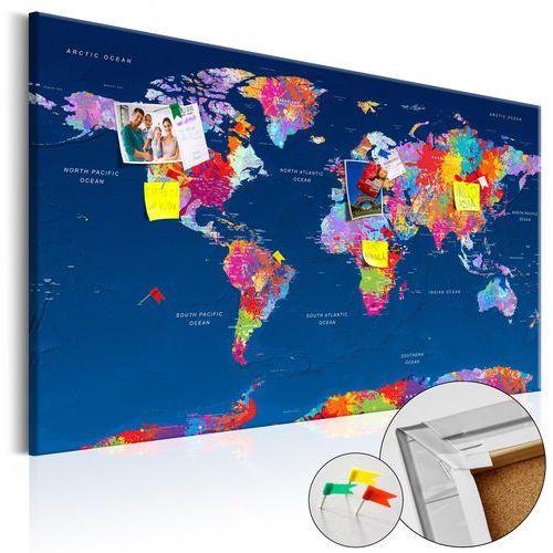 Artgeist Obraz na korku - mapa świata: artystyczna fantazja bogata chata
