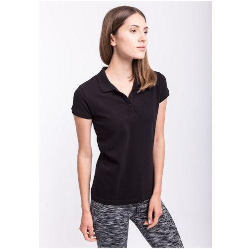 4f Koszulka polo damska tsd051z - czarny