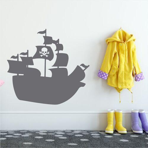 Wally - piękno dekoracji Naklejka na ścianę dla dzieci okręt piracki 2277