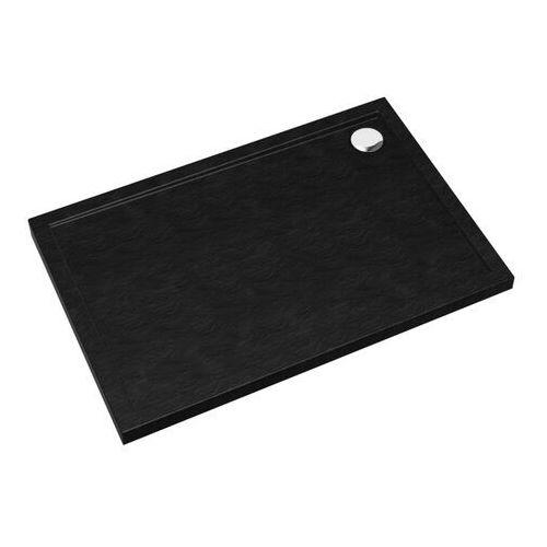Brodzik akrylowy Sched-Pol Atla prostokątny 80 x 120 x 4,5 cm czarny (5902627729348)