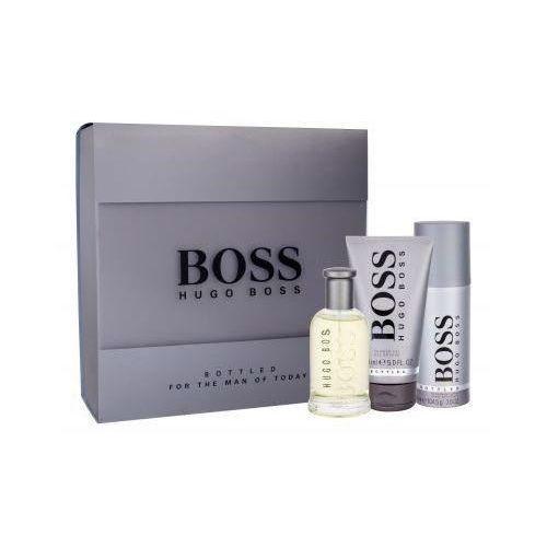 HUGO BOSS Boss Bottled zestaw Edt 100 ml + Żel pod prysznic 150 ml + Dezodorant 150 ml dla mężczyzn (8005610517438)
