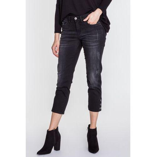 Czarne, przecierane rybaczki sabrina - marki Rj rocks jeans
