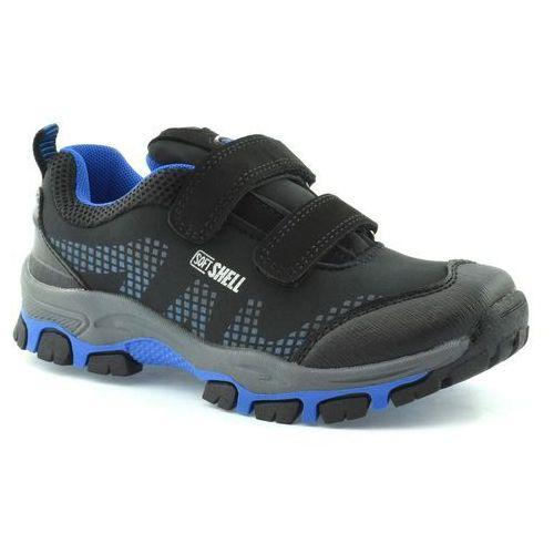 Dziecięce buty sportowe American Club WT1779 - Czarny ||Niebieski, kolor czarny