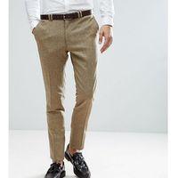 Noak tall skinny suit trousers in fleck - stone