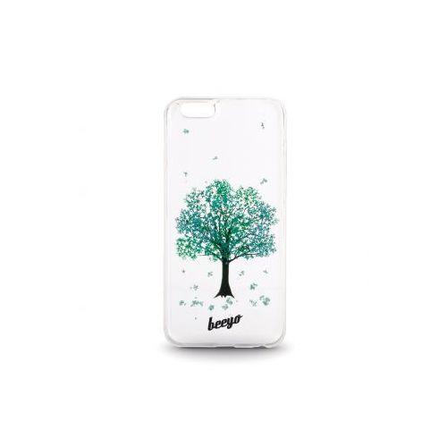 Silikonowa nakładka etui beeyo Blossom do Samsung J500 transparentna + miętowa, kup u jednego z partnerów