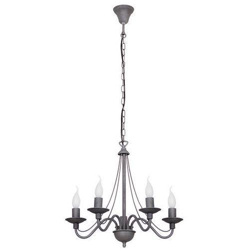 Lampa wisząca świecznikowa zwis Aldex Róża 5x40W E14 szara 397F19 (5904798621544)