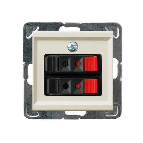 Ospel Gniazdo głośnikowe podwójne ecru gg-2r/m/27 sonata (5907577445041)