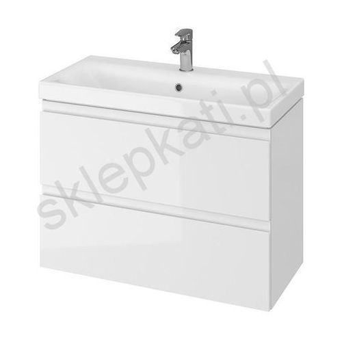 CERSANIT szafka podumywalkowa Moduo Slim 80 biały połysk S929-002, kolor biały