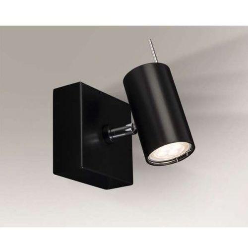 Sufitowa lampa natynkowa fussa 2215/gu10/cz regulowana oprawa ścienna kinkiet metalowy reflektorek tuba czarna marki Shilo