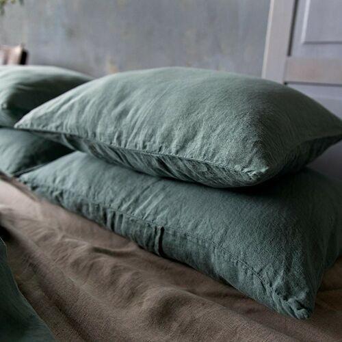 Poszewka na poduszkę lniana pure, rozmiar - 70x80, kolor - eucaliptus green wyprzedaż, wysyłka gratis, 603-671-572 marki Moana