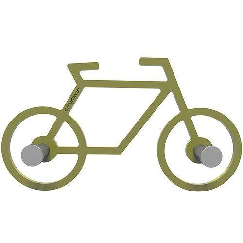 Wieszak ścienny Bike CalleaDesign oliwkowo-zielony (13-008-54)