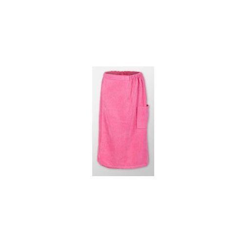 Produkcja własna Sauna kilt ręcznik różowy na rzep frotte