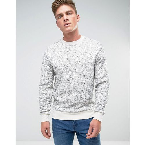 Threadbare Space Dye Quilted Crew Neck Sweat - Grey