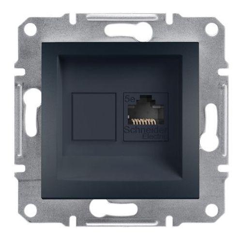 Gniazdo komputerowe Schneider Electric Asfora kategoria 5e antracyt, EPH4300171