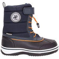 Buty zimowe dla małych chłopców JOBMW304Z - granatowy
