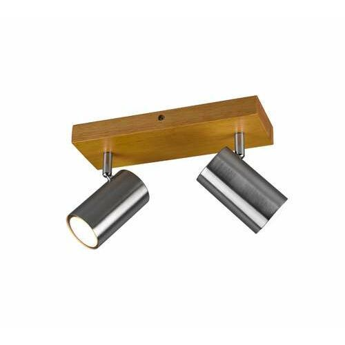 Trio Marley 812400207 plafon lampa sufitowa 2x35W GU10 nikiel/drewno (4017807487978)