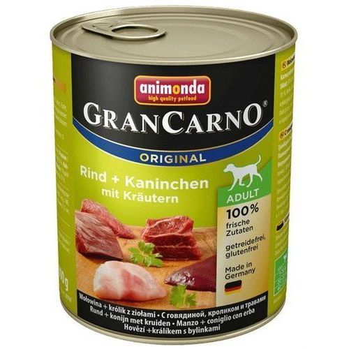 grancarno adult wołowina-królik-zioła 800g marki Animonda