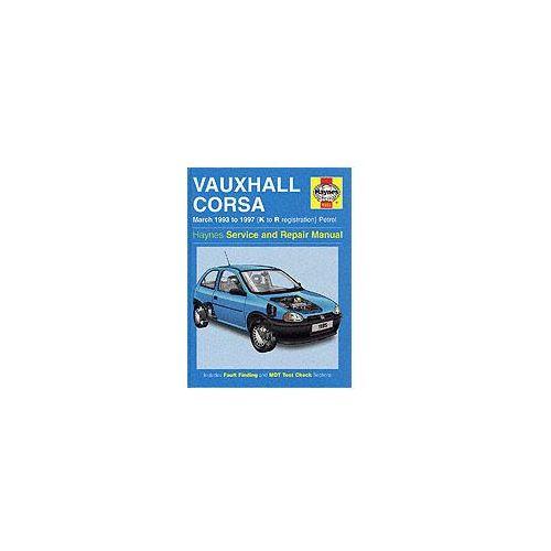 Vauxhall Corsa (93-97) Service and Repair Manual