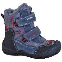 Protetika buty zimowe za kostkę chłopięce rolo 22 szary/niebieski (8585003418752)