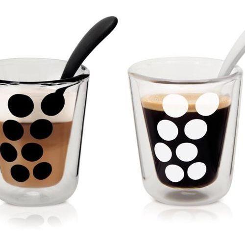 Zak! designs - Dot Zestaw dwóch szklanek z łyżeczkami