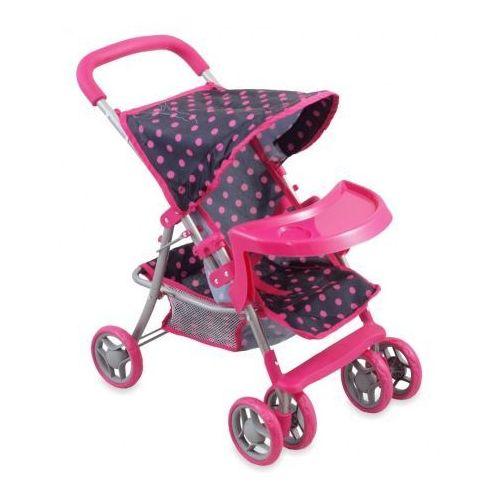Wózek dla lalki w kropki marki Alexis baby mix
