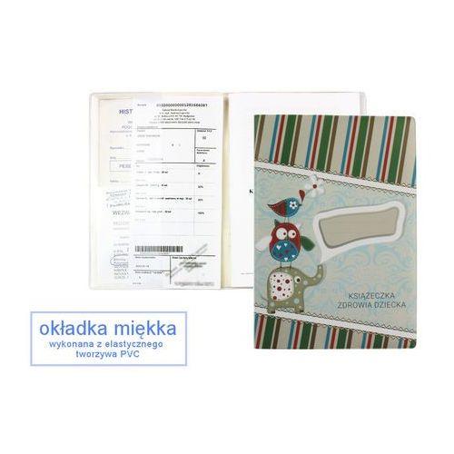 Biurfol Okładka etui na książeczkę zdrowia dziecka, pvc - 1-słonik i zielone prążki
