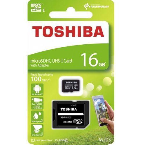 Karta pamięci z adapterem microsdxc 16gb class 10 thn-m203k0160ea marki Toshiba