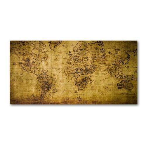 Foto obraz szkło akryl Stara mapa świata