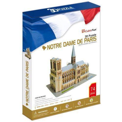 Puzzle 3d katedra notre dame de paris 74 elementy marki Cubicfun