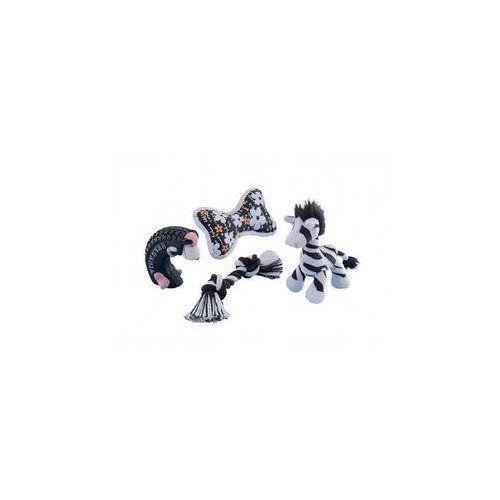 Nobby Zabawka dla zwierząt 4 szt. - zestaw startowy dla szczeniaczka czarna/biała
